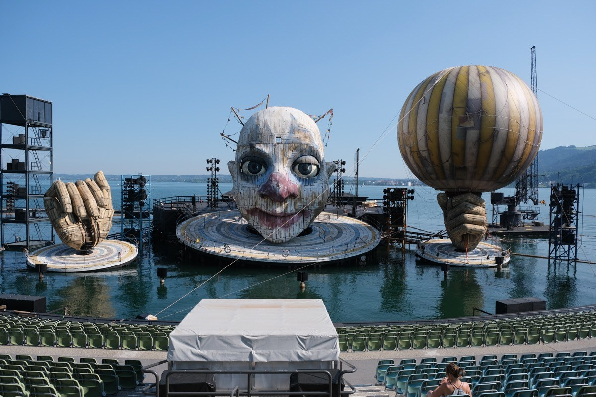 If you don't like clowns, don't visit Bregenz